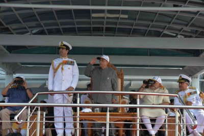 President Reviews Naval Fleet