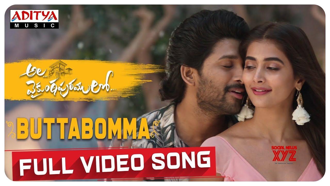 AlaVaikunthapurramuloo - ButtaBomma Full Video Song (4K) | Allu Arjun |  Trivikram | Thaman S |#AA19 [HD] (Video) - Social News XYZ